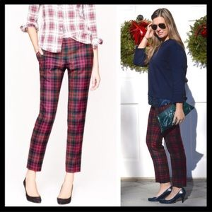 J Crew Cafe Capri Tartan Plaid Cropped Pants 6